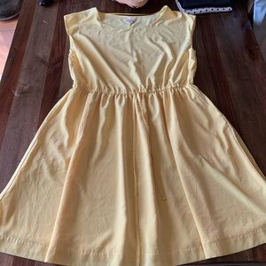 Canary yellow gap dress